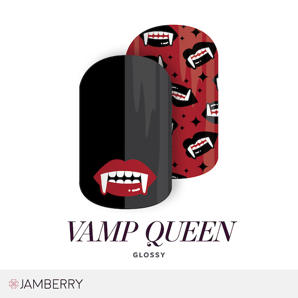 if you are a vampire fan or plan on wearing a vampire costume hereu0027s a wrap you can really sink your teeth into this mixed mani design features vampire