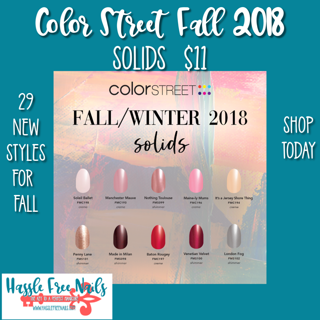 color street fall 2018, color street nails, Fall nails, shop color street, join color street, fall solid nails