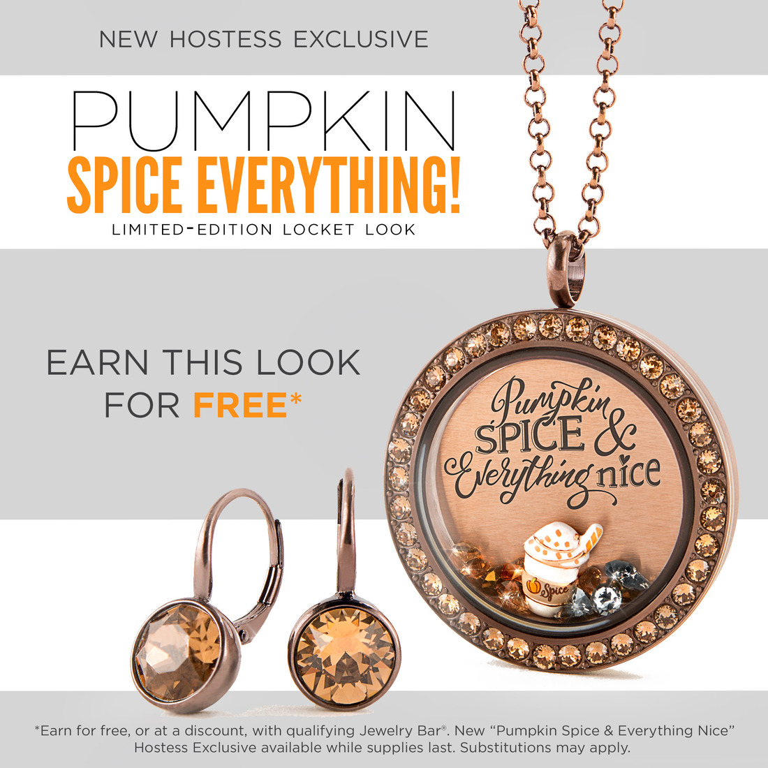 Pumpkin spice everything october hostess exclusive from origami origami owl is celebrating october fall and everything pumpkin spice with our limited edition october hostess exclusive pumpkin spice everything nice jeuxipadfo Images