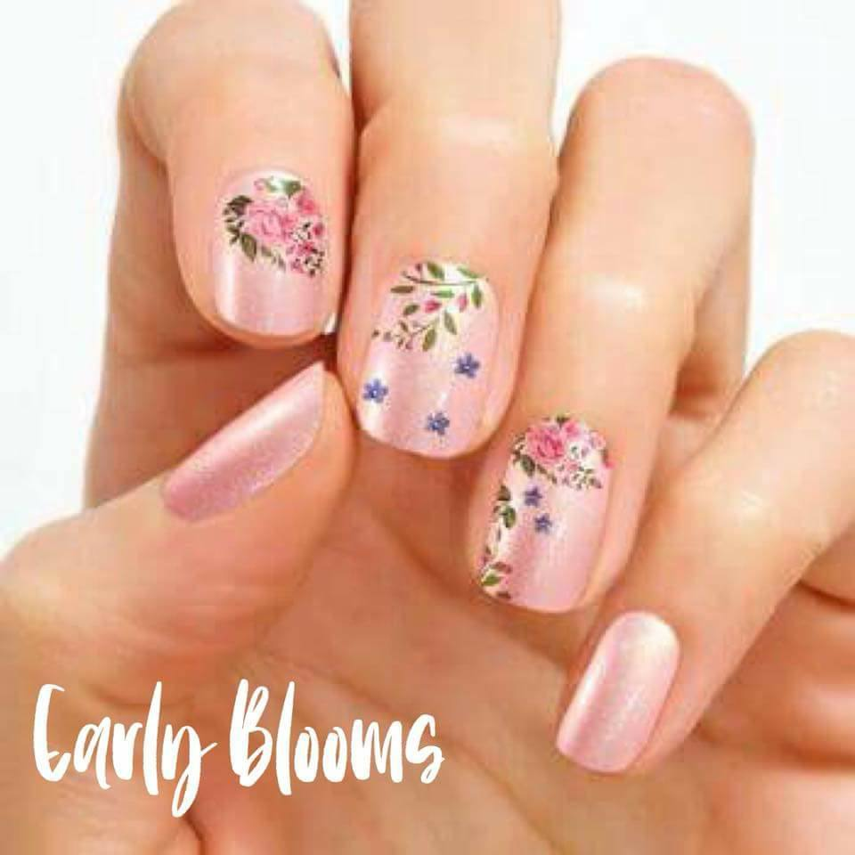 Color Street Early Blooms Floral Nail Strips Available Now Direct Sales Member Article By