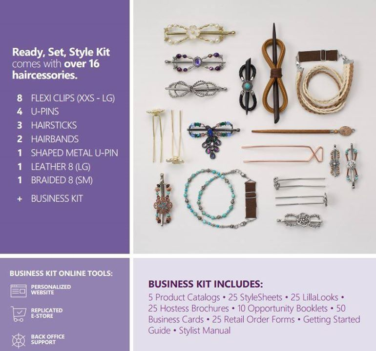 Lilla Rose Business Kit. You get $300 worth of product for $125 www.lillarose.biz/jamiehairjewels