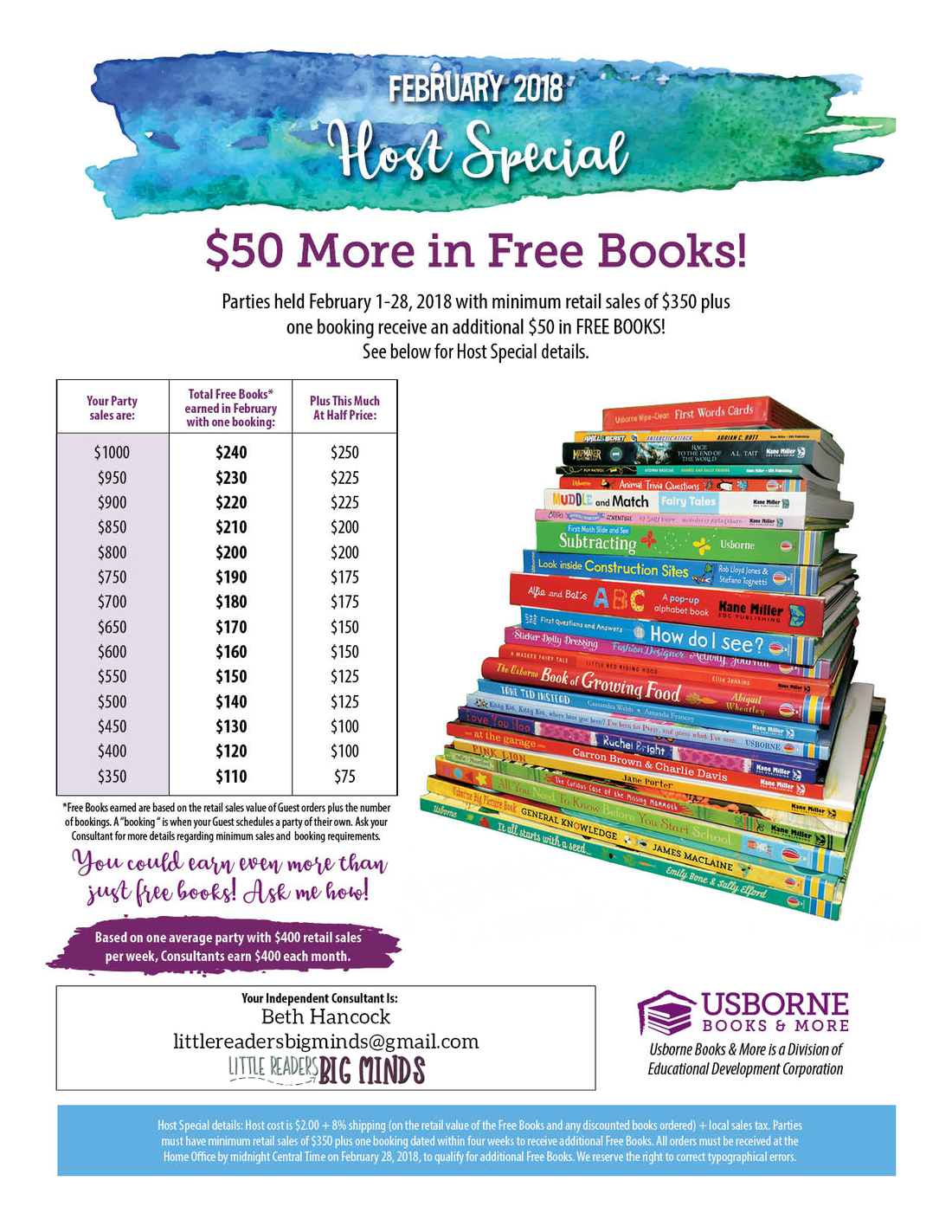 Usborne February 2019 Calendar Extra $50 in FREE BOOKS for February Party Hosts   Direct Sales