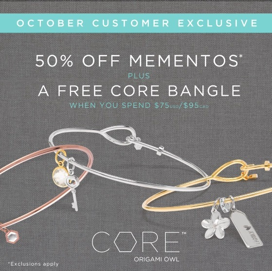 October Monthly Exclusives From Origami Owl Shop Join Host Be A