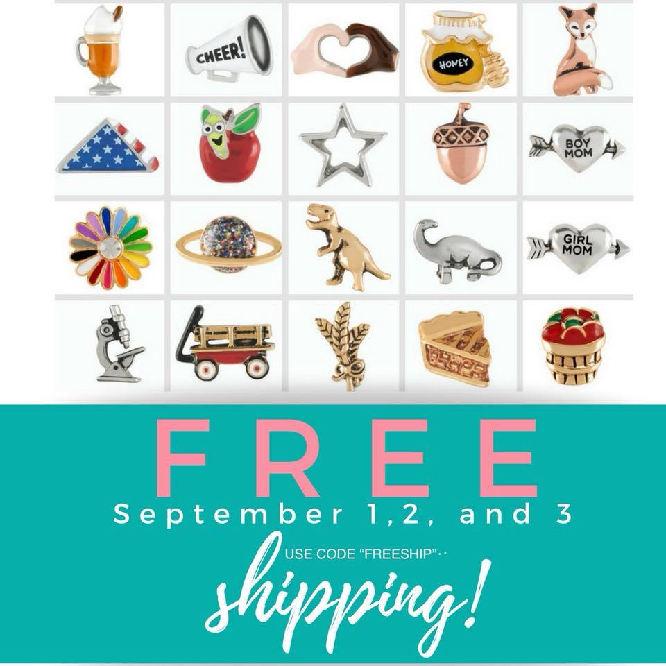 origami owl free shipping code labor day weekend