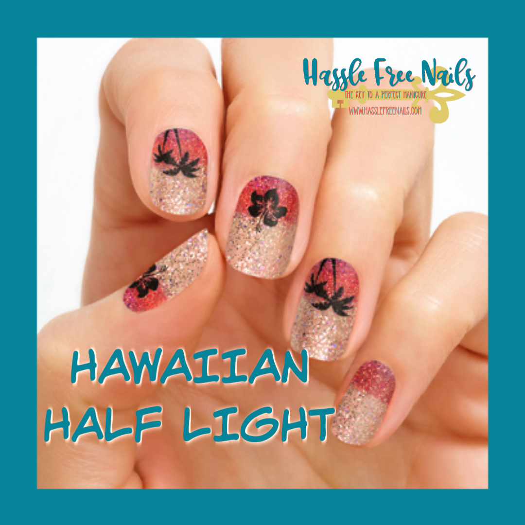 Hawaiian half light, shop color street, join color street, buy color street, summer nails, color street summer, hassle free nails