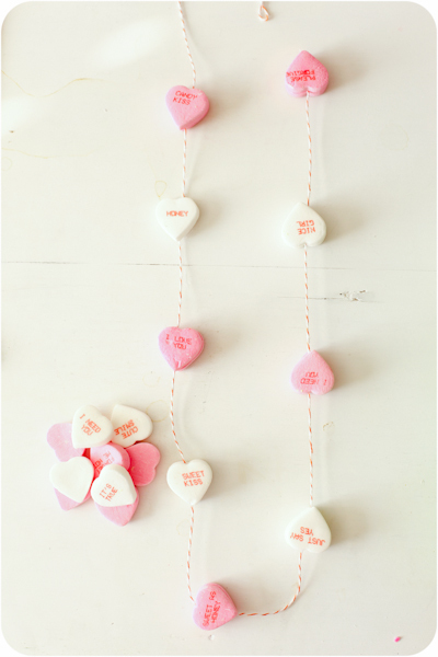 Valentines Day Conversation Heart Garland