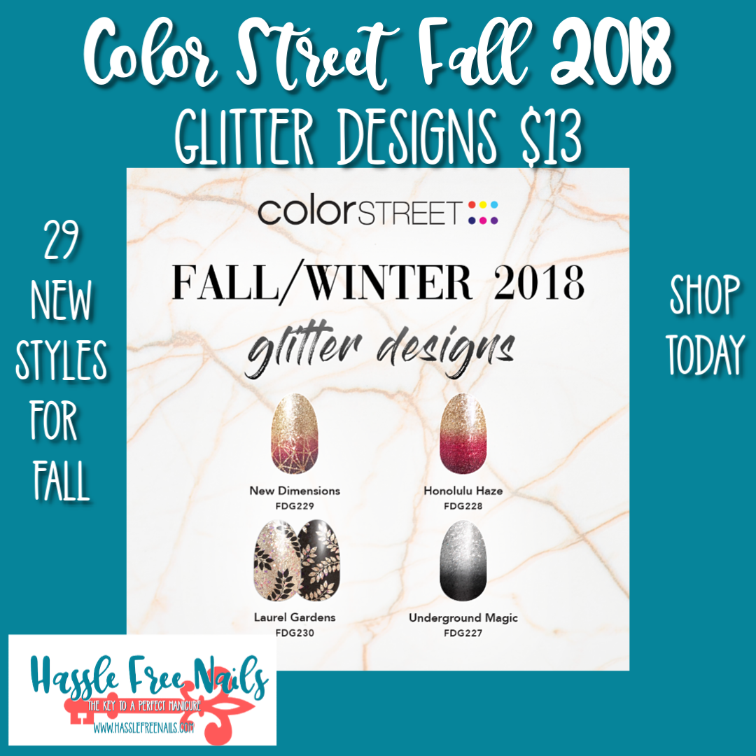 color street fall 2018, color street nails, Fall nails, shop color street, join color street, fall glitter design nails