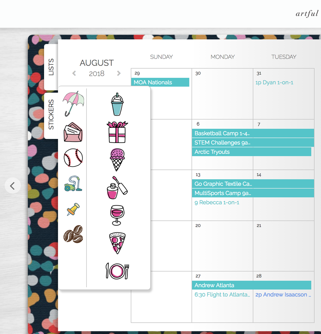 Digital Planner Stickers Artful Agenda
