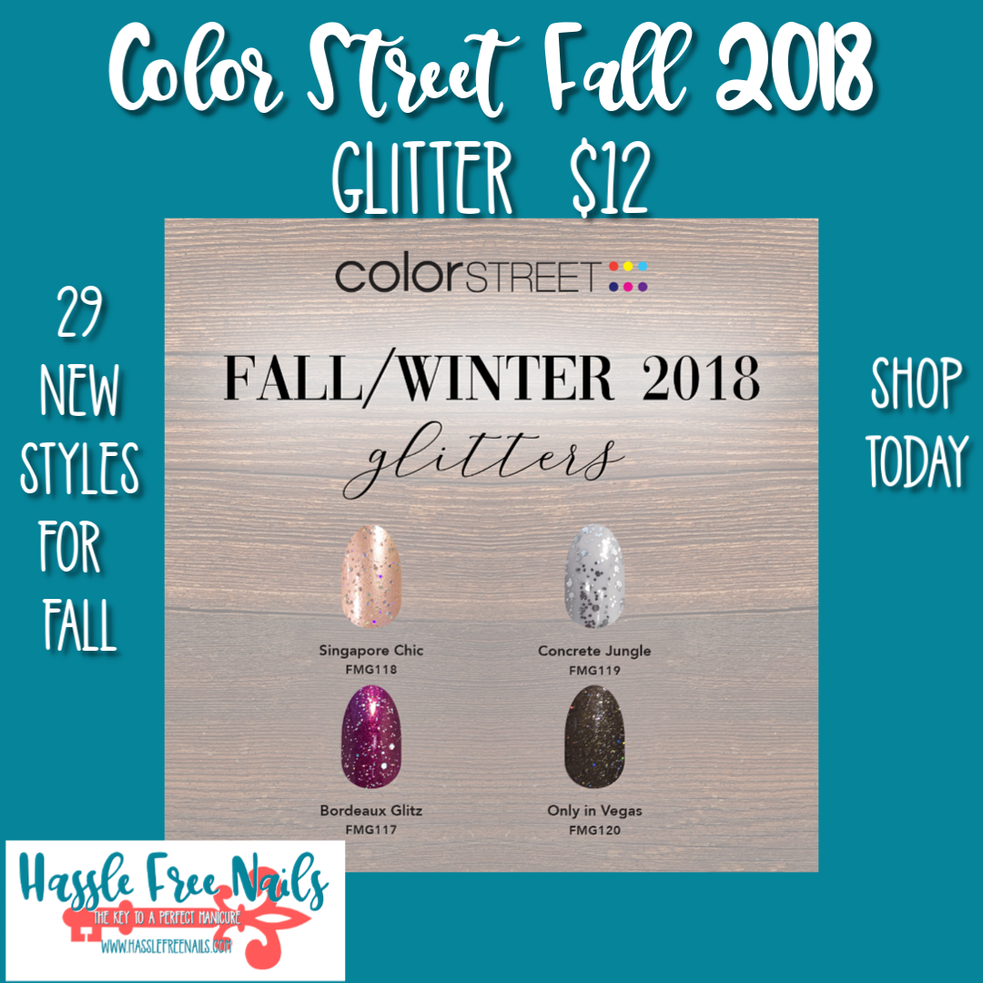 color street fall 2018, color street nails, Fall nails, shop color street, join color street, fall glitter nails