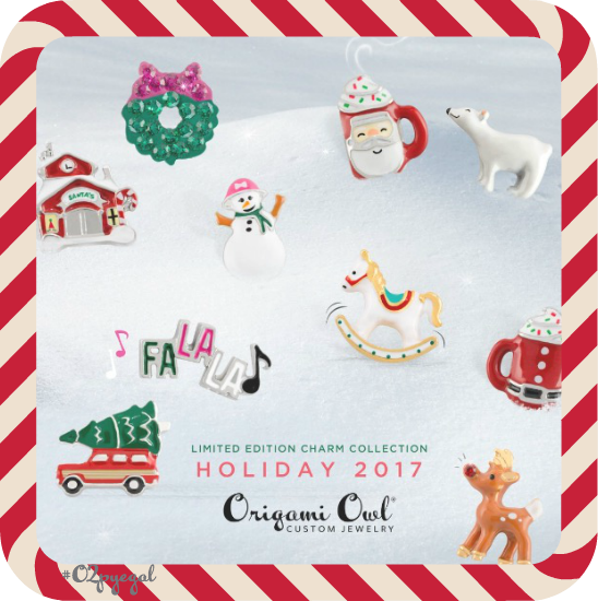 Origami Owl Holiday 2017 Collection Reveal Day 2 Candy Cane Wishes