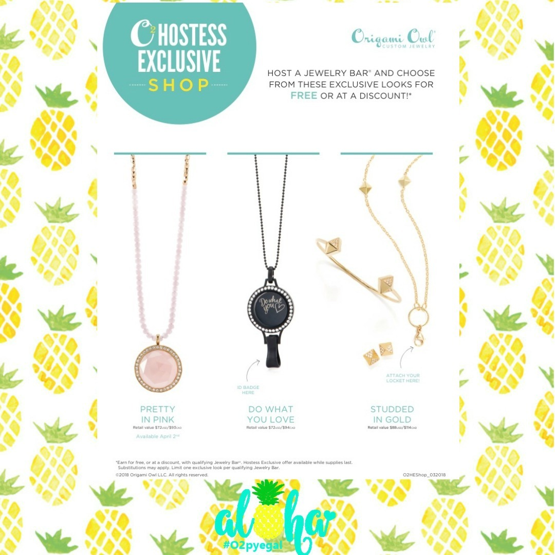Special Hostess rewards and Valentine's Exclusive - Origami Owl ... | 1080x1080