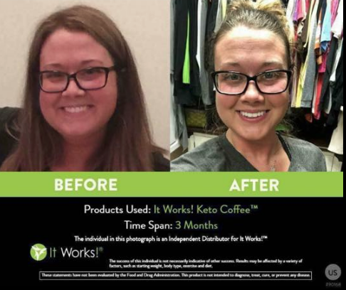 IT WORKS KETO COFFEE RESULTS