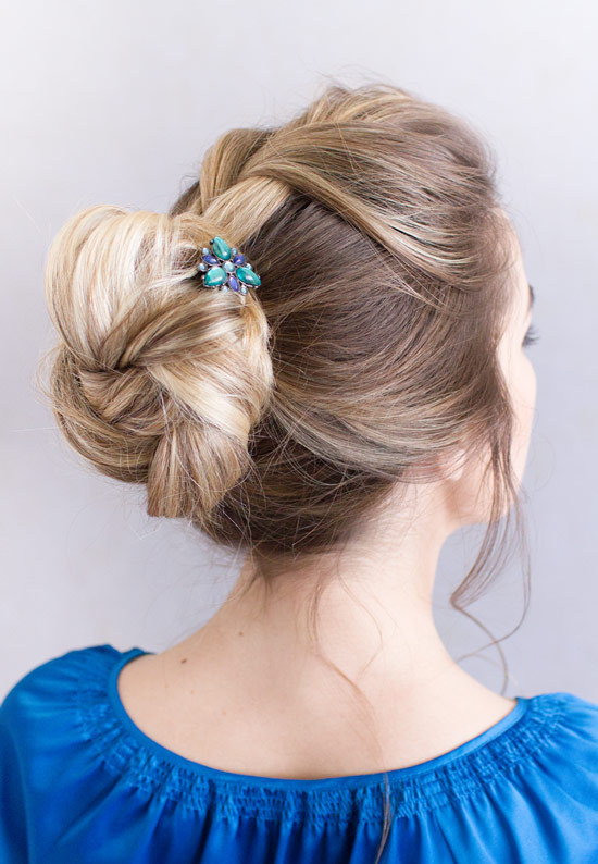Lilla Rose U-Pins in a updo. Many different designs and colors to choose from.