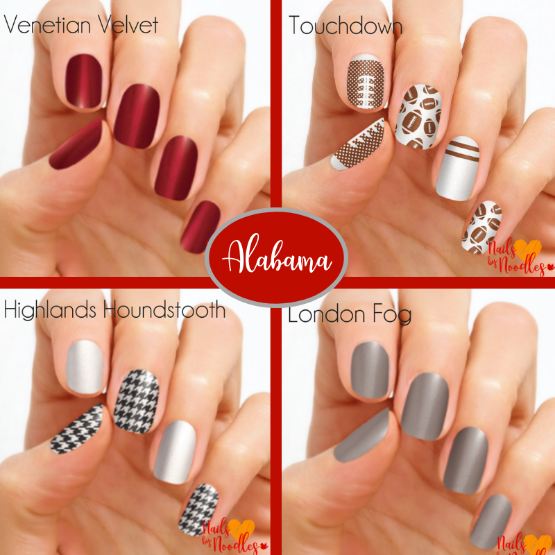 Alabama. Color Street, college football, football nails, football nail  designs, nail art, - College Football Nail Designs - Direct Sales And Home Based Business