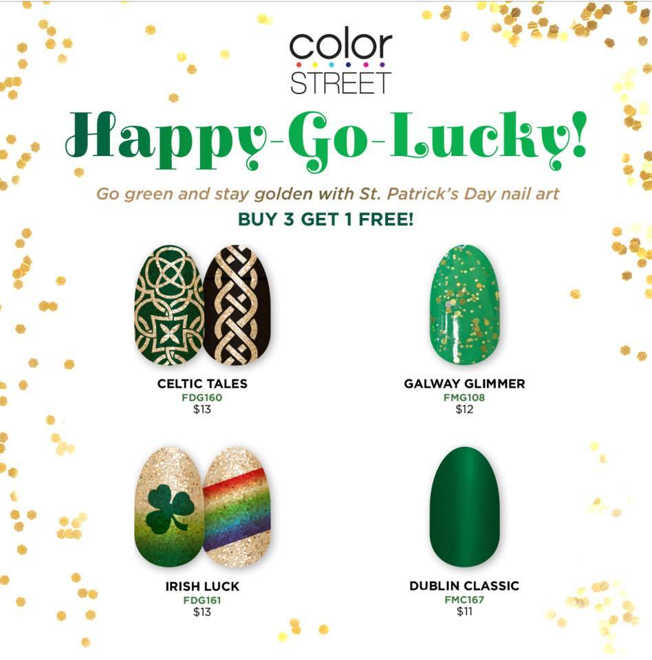 Image result for irish luck color street