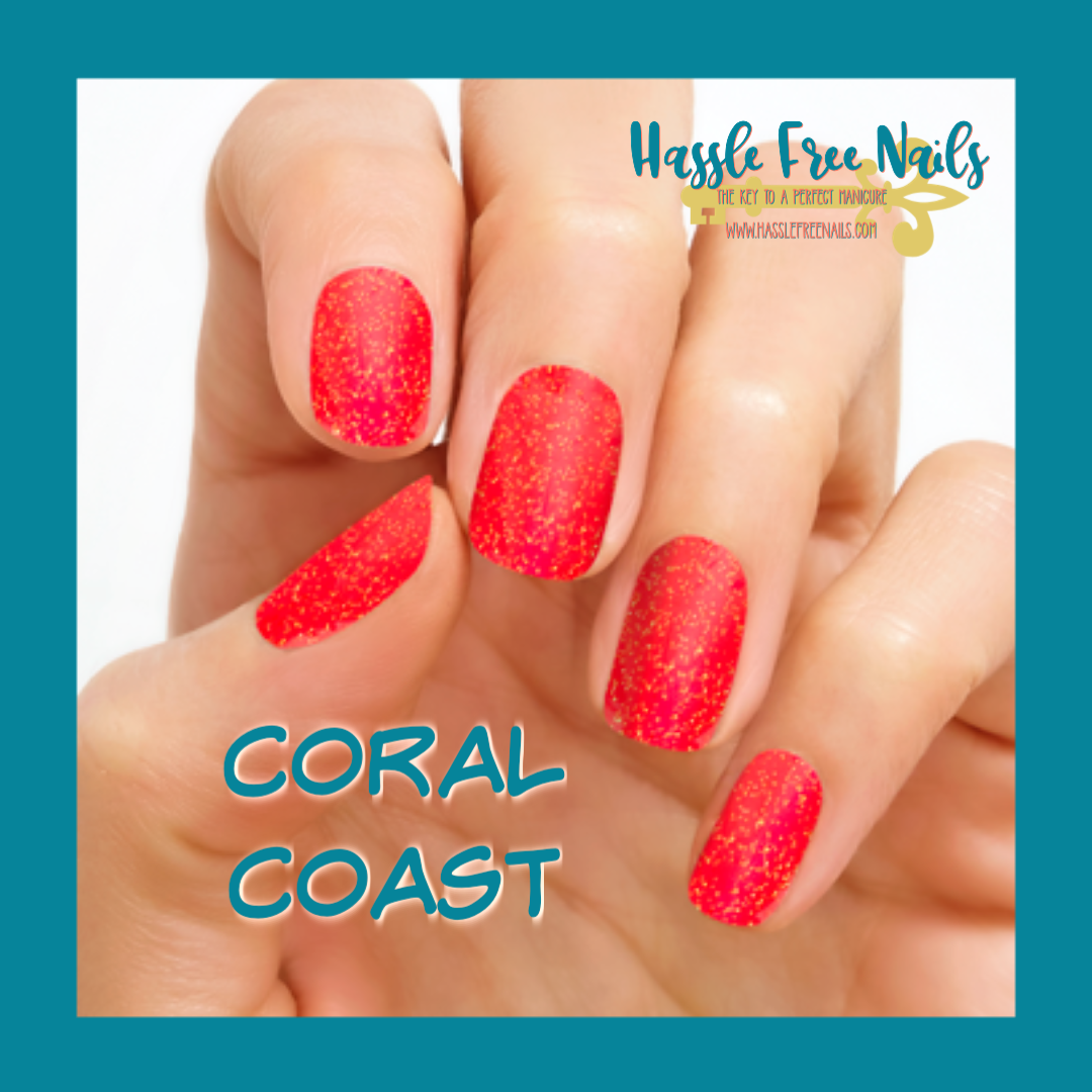 Coral Coast, Shop Color street, join color street, buy color street, color street summer, summer nails, hassle free nails
