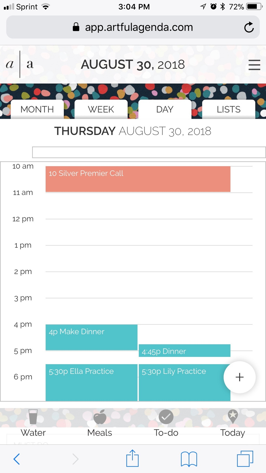 Digital Planner Mobile Daily View Artful Agenda