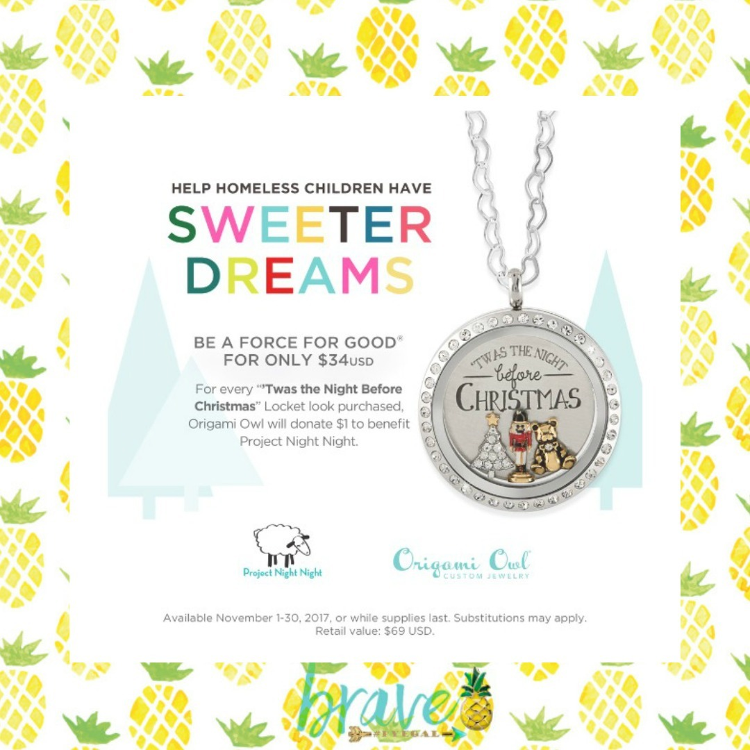 November exclusives from origami owl shop host join force origami owl will donate 1 from every locket look purchased to benefit project night night an organization that donates over 25000 night night packages jeuxipadfo Gallery