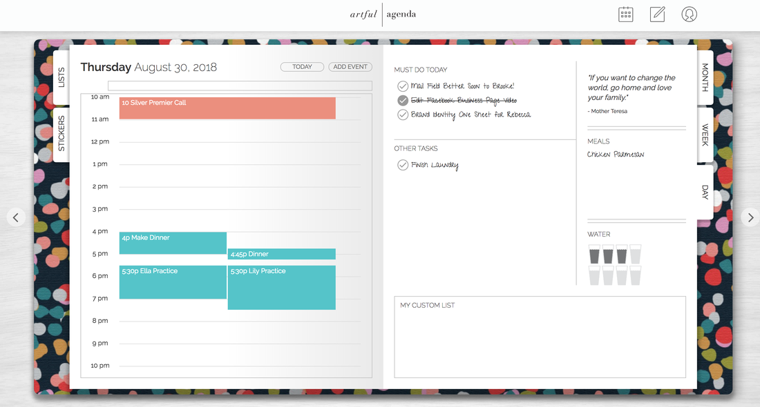 Digital Planner Daily View Artful Agenda