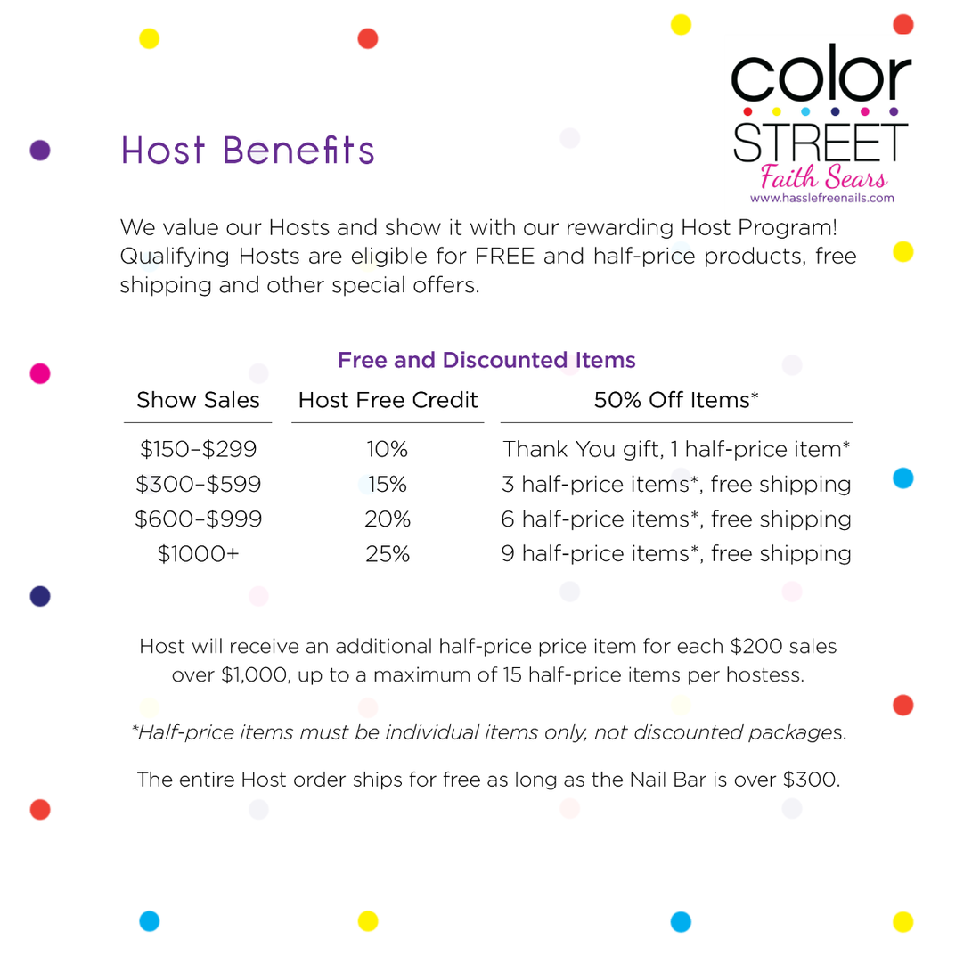 hostess rewards, color street hostess rewards, host a color street party. join color street,