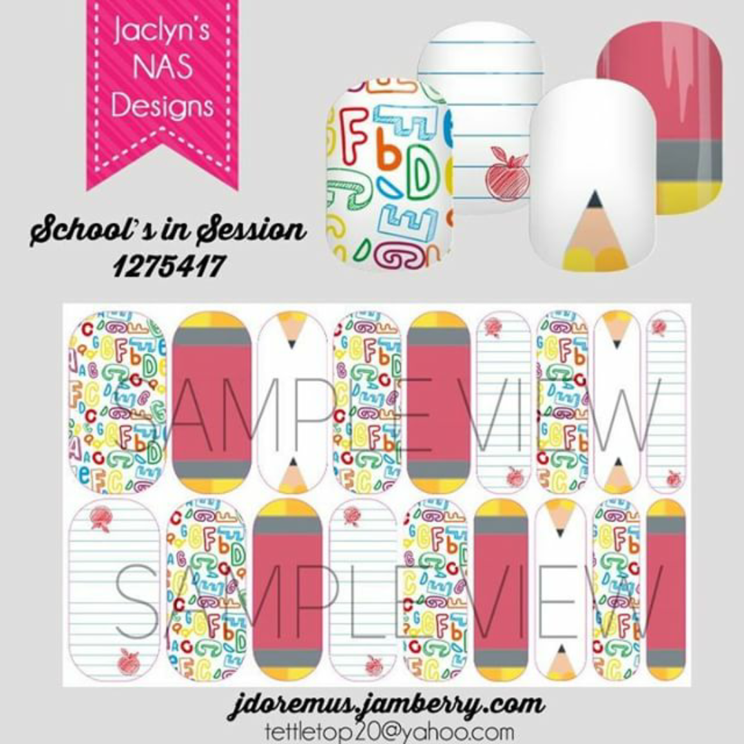 Get Cute Back to School nails with Jamberry Nail Art Studio - Direct ...