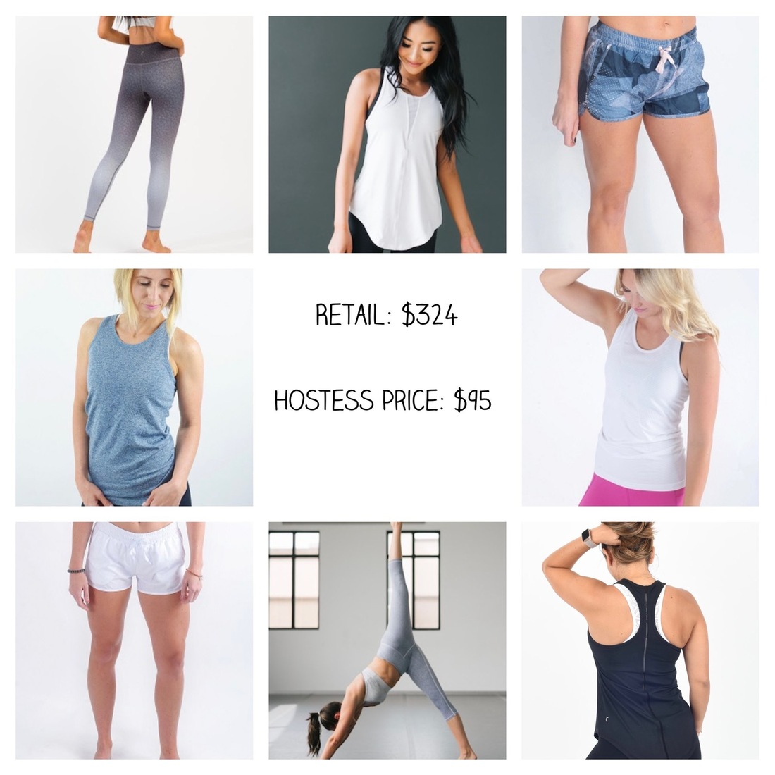 ZYIA Active collage of activewear
