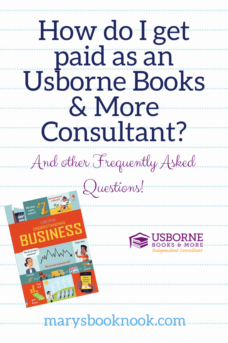How Do I Get Paid As An Usborne Books More Consultant Direct Sales Party Plan And Network Marketing Companies Member Article By Mary Carlich