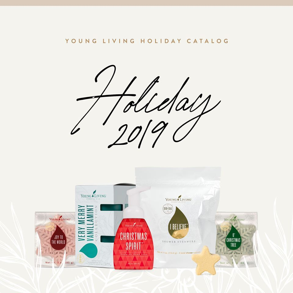 Young Living Christmas Tree.Young Living Holiday Catalog 2019 Direct Sales Party Plan