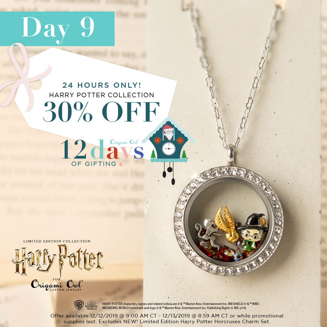 Origami Owl - The Harry Potter for Origami Owl Collection ... | 1100x1100