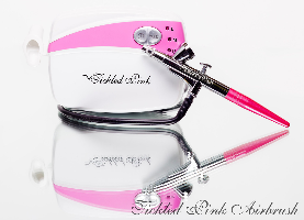 Tickled Pink Airbrush  Company Logo by Kathy Tope in Salem OR