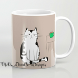 Cat Coffee Mugs by Mel's Doodle Designs