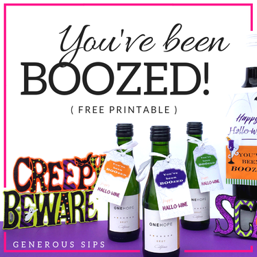 graphic about You've Been Boozed Printable named YOUVE BEEN BOO(z)ED! - Cost-free Halloween Printable in the direction of Booze