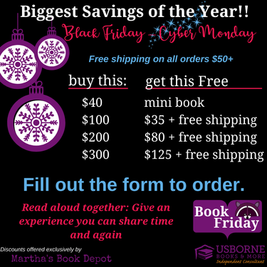 Gift Experiences With Usborne Books More Black Friday Deals 2019 Direct Sales Party Plan And Network Marketing Companies Member Article By Martha Growdon