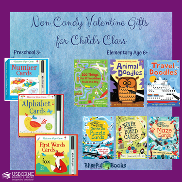 Usborne Non Candy Valentines For Child's Class - Direct Sales