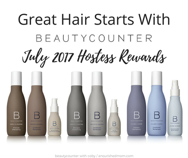 Beautycounter's July 2017 Hostess Rewards