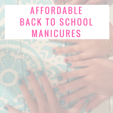 Affordable Back to School Nails with GelMoment