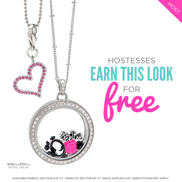 March Origami Owl Hostess Exclusive