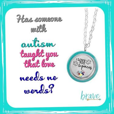 I Love You to Pieces Locket in honor of National Autism Awareness Month