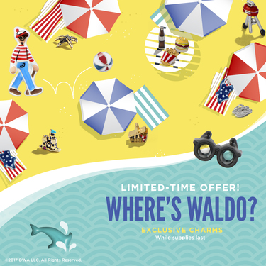 DreamWorks Animation Where's Waldo Limited Edition Charms by Origami Owl,