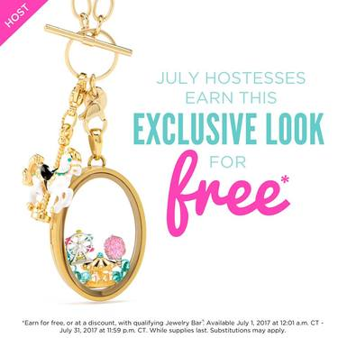 """Ride Away with Me"" July Hostess Exclusive from Origami Owl"