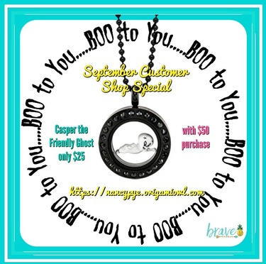 Boo-tiful Origami Owl Casper the Friendly Ghost Exclusive Locket