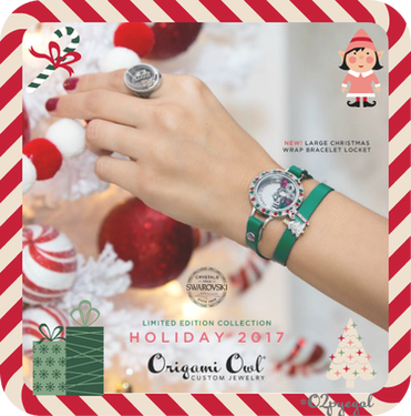 Origami Owl Holiday 2017 Collection Reveal Day 2 Candy Cane Wishes + Mistletoe Kisses