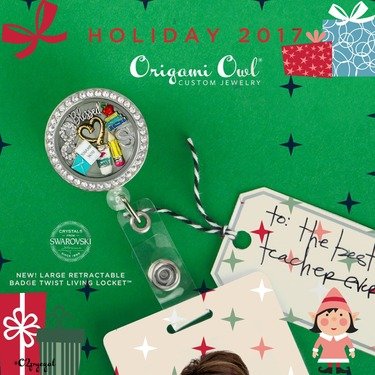 Holiday 2017 Collection Reveal Day 3 Origami Owl Top Gifts