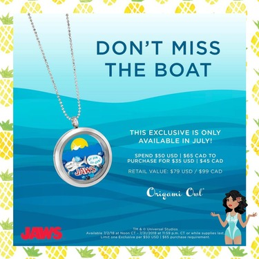 Jaws Living Locket July Exclusive Origami Owl Direct Sales And