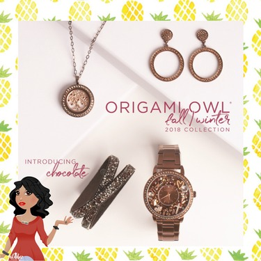 Introducing Chocolate Jewelry From Origami Owl Fall 2018 Collection