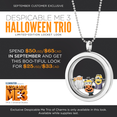 Despicable Me 3 Halloween with Origami Owl