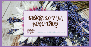 doTERRA 2017 July BOGO: FAQS