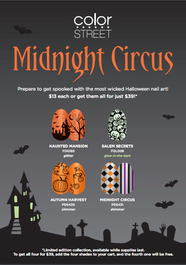 color street to release halloween collection midnight circus - Article About Halloween
