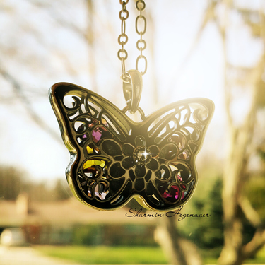 Origami Owl's New Sentiments Butterfly Pendant