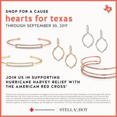 Stella & Dot Hearts for Texas Boutique